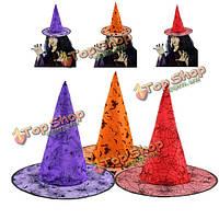 Хэллоуин заостренный волшебница ведьма мастер-участник костюм шляпа
