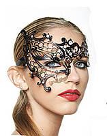 Черный Фантом металла горный хрусталь лазерная резка Хеллоуин маскарадный костюм