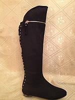 Ботфорты женские экокожа зима на низком каблуке 37 размер Последняя пара
