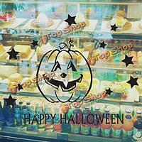 Съемная счастливым Хэллоуин тыква окно стикер стены искусства винила декора дома