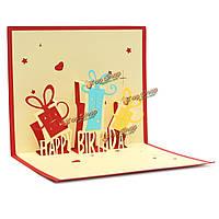 Рукоделие С Днем Рождения 3d открытка день рождения поп до карточку