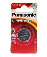 Литиевая батарейка panasonic cr 2430 1 штука lithium