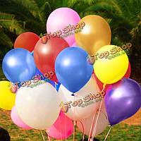Воздушные шары разноцветные цвета металлик 100шт