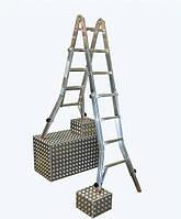 Шарнирная лестница телескопическая KRAUSE TeleVario 4x5 ст. Hmax - 5.3м
