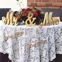 Свадебный прием знак деревянные буквы & Mr Mrs стол подарок декора центральным
