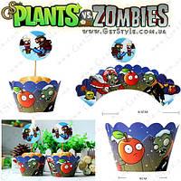 """Форми для солодощів Plants vs. Zombies - """"Paper Cupcake"""" - 6 шт, фото 1"""