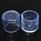 Насадки колпачки на ножки мебели из прозрачной резины 4шт, фото 7