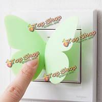 2шт переключатель декора бабочки ручки двери Windows стикер стены украшения дома