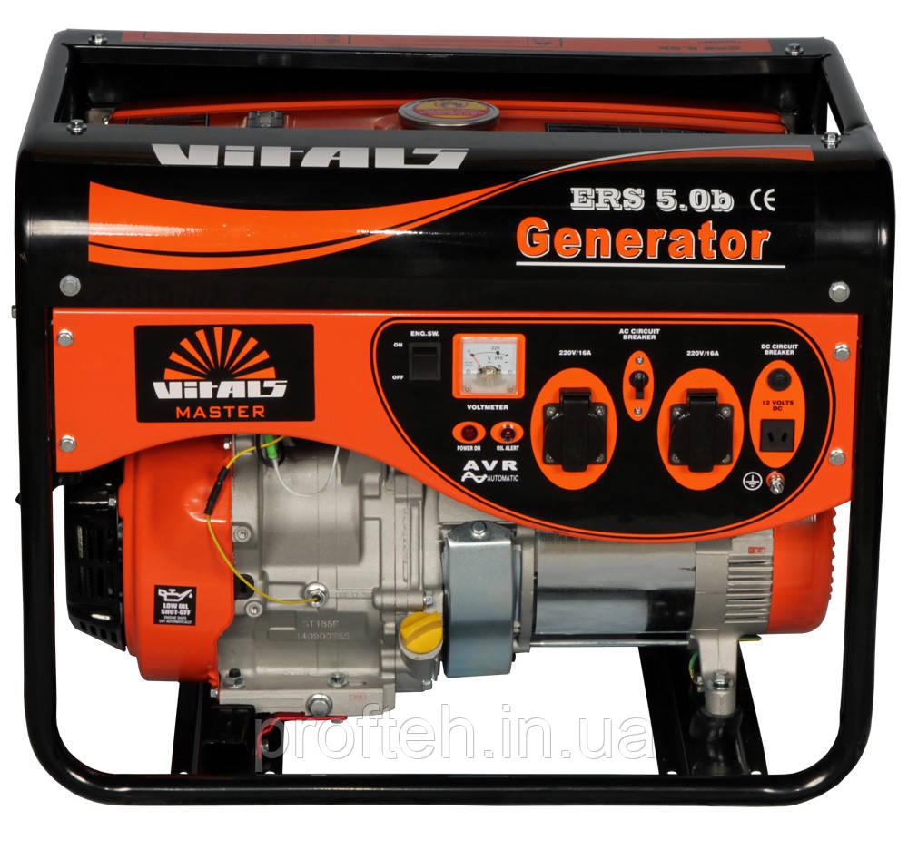 Генератор бензиновый Vitals ERS 5,0b (5,0 кВт, ручной стартер) Бесплатная доставка