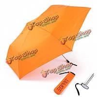 Три кармана складной сверхлегкий анти-УФ Вс дождь подарок мини зонтики