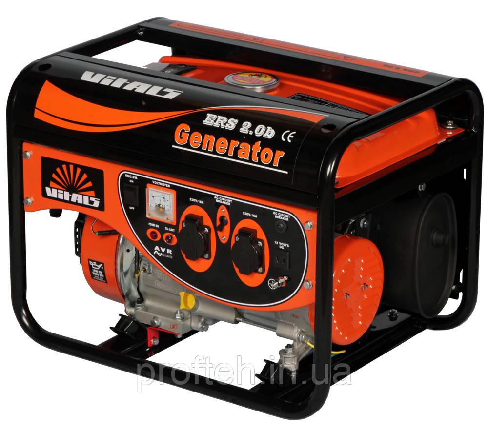 Генератор бензиновый Vitals ERS 2.0b (2,0 кВт, ручной стартер) Бесплатная доставка