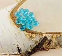 Бусина рондель стекло голубая(10шт) 8мм