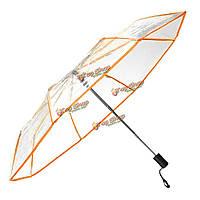Прозрачный зонт полный автомат 3 сложения