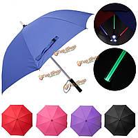 LED Многоцветная вспышка света вспышки защита детей зонтик ночь батареи подарок электрический стекло