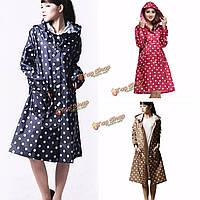 Женщины девушки плащ дождевик верхом одежды пальто дождя водонепроницаемую одежду на открытом воздухе точка пончо долго