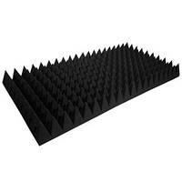 """Акустический поролон """"Пирамида 100"""" 100*50 см. звукопоглощающий. Чёрный графит"""