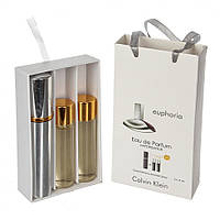 Мини парфюмерия Calvin Klein Euphoria (Кельвин Кляйн Эйфория) с феромонами + 2 запаски, 3x15 мл., фото 1