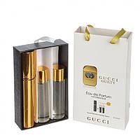 Мини парфюмерия Gucci Guilty (Гуччи Гилти) с феромонами + 2 запаски, 3x15 мл.