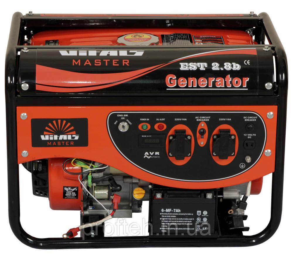 Генератор бензиновый Vitals Master EST 2.8b (2,8 кВт, электростартер) Бесплатная доставка