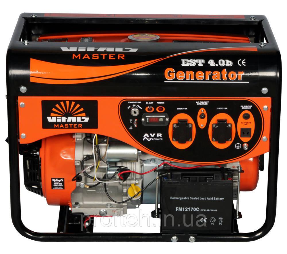 Генератор бензиновый Vitals Master EST 4.0b (4,0 кВт, электростартер) Бесплатная доставка