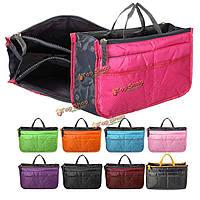 Женщины долговечны аккуратные сумки многофункциональный органайзер кошелек большой мешок нейлона ткани сетка для хранения леди