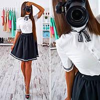 """Женское черно-белое платье """"Алиса"""""""
