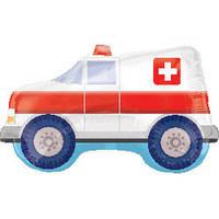 Машина скорой помощи, фольгированный шарик с гелием