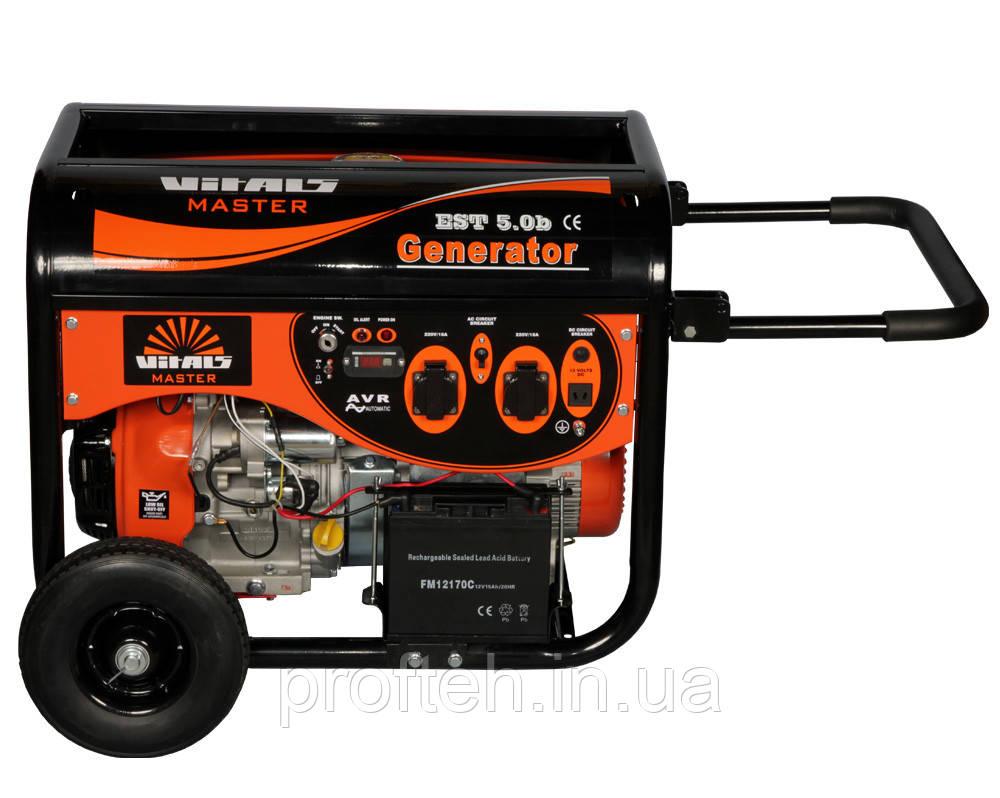 Генератор бензиновый Vitals Master EST 5.0b (5,0 кВт, электростартер)  Бесплатная доставка