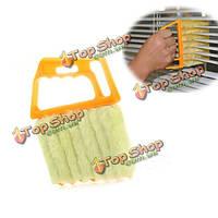Мини 7 ручной микроволокна жалюзи оконный кондиционер кисти тряпкой грязь, очистить