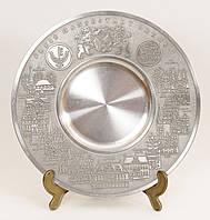 Тарелка оловянная, олово, Германия, BREMEN, 27 см