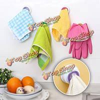 Мыть ткани держатель зажима dishclout стеллаж для хранения кухня ванная комната съемная рука вешалка для полотенец