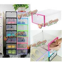 Прозрачный пластмассовый наращиваемый футляр обувной коробки домашний офисный организатор контейнера хранения