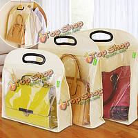 Сумка рюкзак сумка для хранения шкаф для одежды пылезащитный чехол ручка держать чистый органайзер