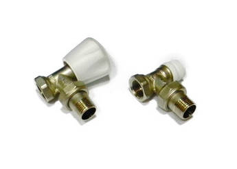 Комплект вентилей для подключения радиаторов 1/2 Icma угловой