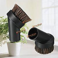 Черный универсальный конский волос щетка для пыли подходят 1.25 дюйма крепления вакуумного инструмента