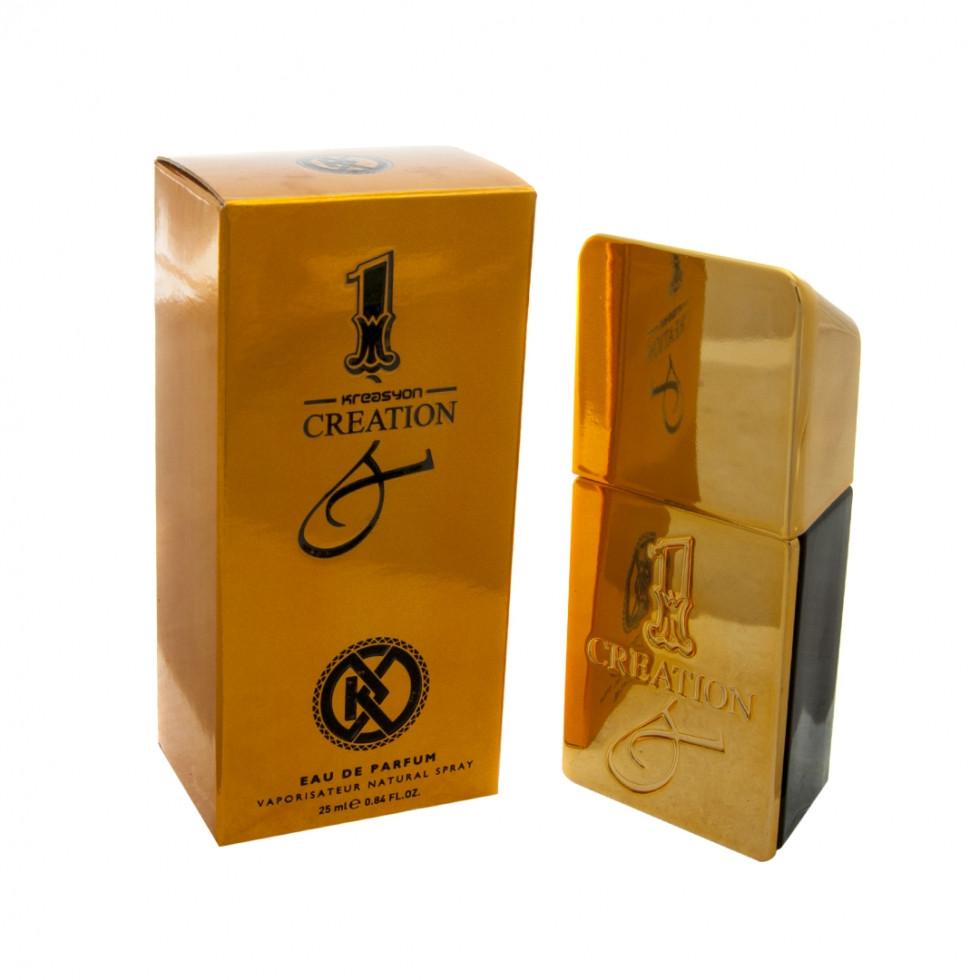 Мужской парфюм Paco Rabanne 1 Million 25 ml (аналог брендовых духов). Мини-парфюмерия Kreasyon Creation - ONE-Parfum - интернет-магазин парфюмерии и косметики в Киеве