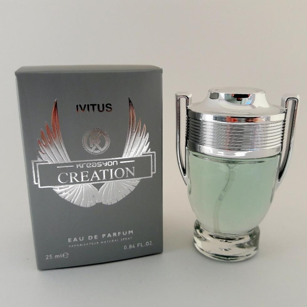 Мужской парфюм Paco Rabanne Invictus Man 25 ml (аналог брендовых духов). Мини-парфюмерия Kreasyon Creation - ONE-Parfum - интернет-магазин парфюмерии и косметики в Киеве