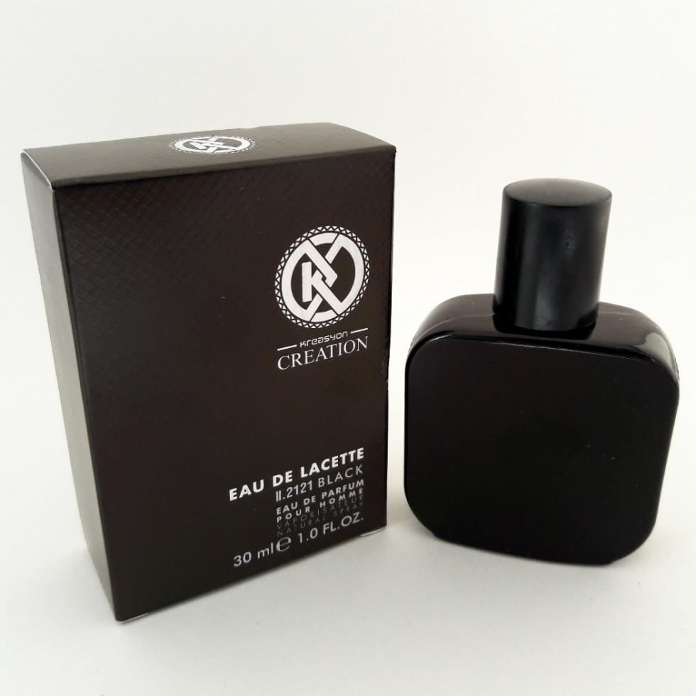 Мужской парфюм Lacoste L.12.12 Noir 30 ml (аналог брендовых духов). Мини-парфюмерия Kreasyon Creation - ONE-Parfum - интернет-магазин парфюмерии и косметики в Киеве
