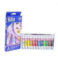 Набор акриловых красок BASICS (в наборе 12 цветов по 6 мл)