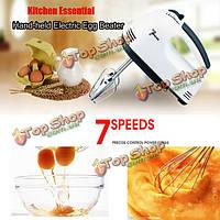 Электрический яйцо колотушки ручной 7 скоростей для жарения техника яйцо смеситель кухня выпечки инструменты