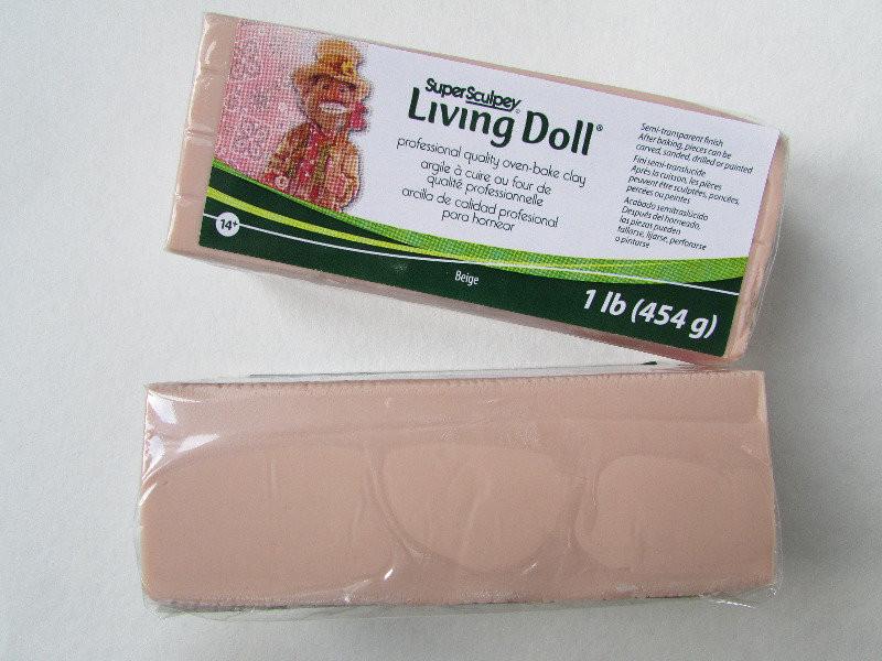 LivingDoll Ливинг Долл, цвет телесный бежевый 454г SuperSculpey (США), заводская уп-ка