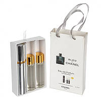 Мини-парфюмерия Chanel Bleu de Chanel (Шанель Блю дэ Шанель) с феромонами, 3x15 мл (реплика)