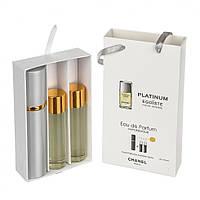 Мини-парфюмерия Chanel Egoiste Platinum (Шанель Эгоист Платинум) с феромонами, 3x15 мл (реплика)