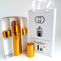 Набор мужских пробников GUCCI Guilty pour homme (Гуччи Гилти Пур Хом) с феромонами + 2 запаски, 3x15 мл.