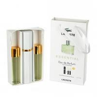 Набор мужских пробников Lacoste Essential (Лакост Эссеншиал) с феромонами, 3 x15 мл