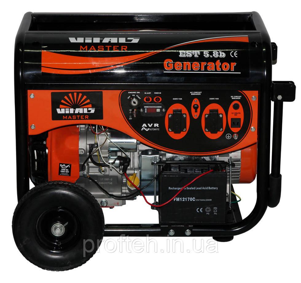 Генератор бензиновый Vitals Master EST 5.8b (5,8 кВт, электростартер) Бесплатная доставка