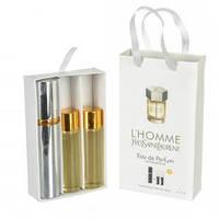 Набор мужских пробников Yves Saint Laurent L`Homme (Ив Сен Лоран Эль Хом) с феромонами, 3 x15 мл
