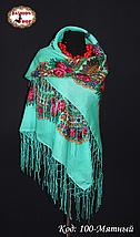 Украинский мятный платок Цветущий сад, фото 3