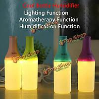 Мини-бутылки тонкий ультразвуковой домашний офис ароматерапия USB лампа LED увлажнитель тумана диффузор очиститель