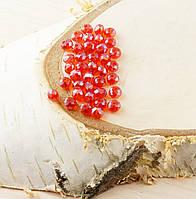 Бусина рондель стекло красная (10шт) 4мм (товар при заказе от 500грн)